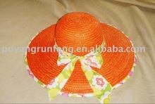 girl straw hat with bowknot