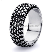Wholesale 2015 new design stainless steel casting motorcycle tire tread ring