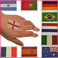 2015 Hot selling custom country flag temporary tattoos sticker flag tattoo for football fun