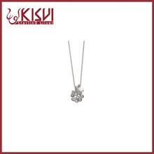 necklace silver four leaf clover