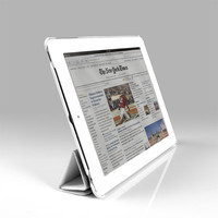 Auto Wake Up Function Leather Case For Apple iPad Cases White Case For iPad 2 3 4 Cover