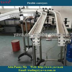 Flexible chain conveyor machine system