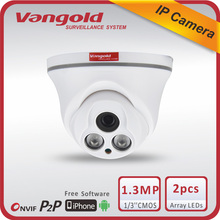 Plastic Array Camera Indoor Dome Style 1.30MP IP High Definition Support External POE