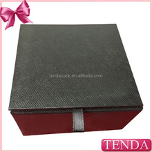 2015 made in china best quality hinged lid rigid knitted cap box