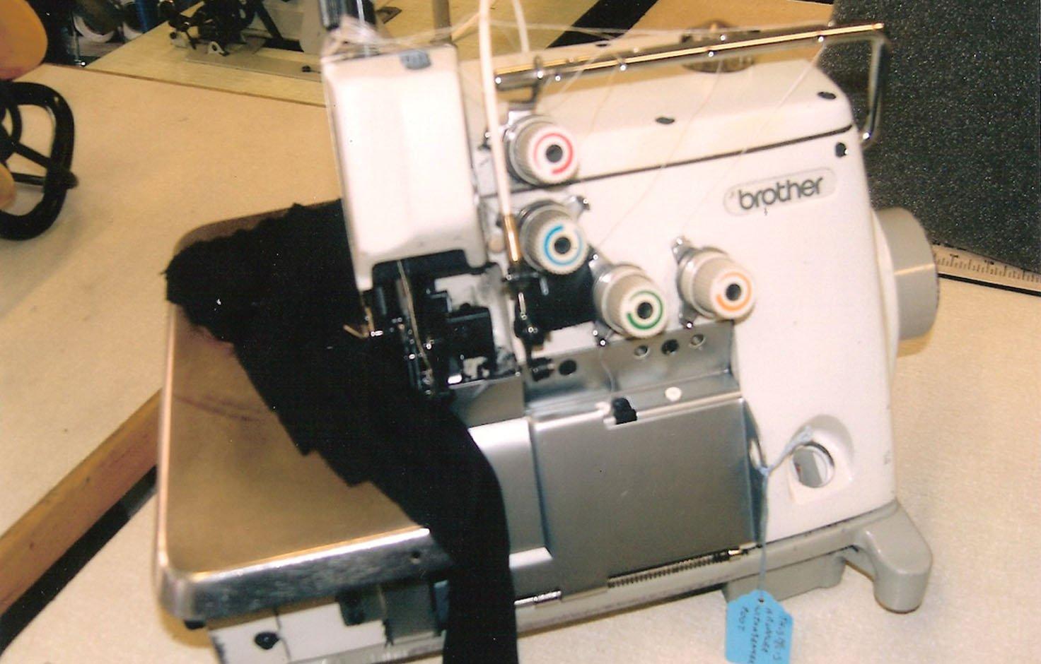 Overhauled fr re 4 fil machine coudre industrielle for Machine a coudre 4 fils