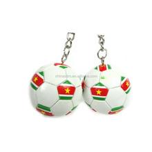 customized World Cup pvc key ring/ soft pvc keyings/pvc football keychains