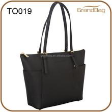 Saffiano PU leather brand ladies handbag tote bag