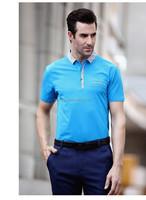 2015 New Men plain t shirt Short Sleeve brand POLO Shirt Man