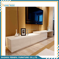 2015 White high gloss wooden lcd tv stand design