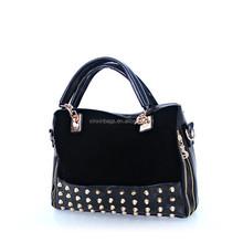 Black gold rivets fashion bag ladies bags