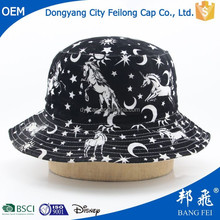 black white horse cartoon pattern outdoor fishing fisherman hat cap for baby kids