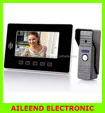 Super thin design shapeTouch button Suitable for every home With rain coverNew touch pad 7inch video door phone