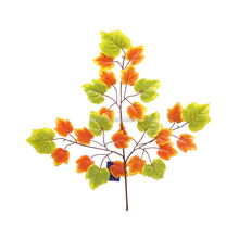 high quality hot sale wholesale 3-branch YSF0328 artificial grape leaves decorative grape leaves