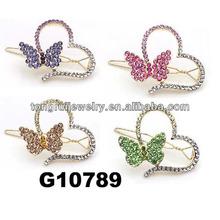 diamond butterfly heart shaped girl hair clip