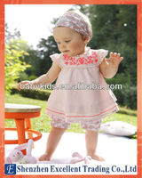 Latest Stylish Design Baby Girls Embroidery Dress Suit and Cute Girls Clothes