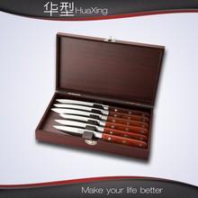 7pcs knife set with wooden case gift set