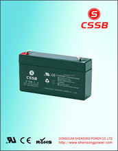 lead acid battery 6V1.2AH