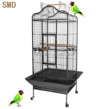 Large Open Top Wrought Iron Parrot Bird Cage