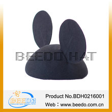 Wholesale cartoon wool felt mouse ears bowknot hat party hats for adults
