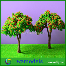 40mm high minature red colorful strong made of wire tree layout/artificial red flower thriving iron wire model tree