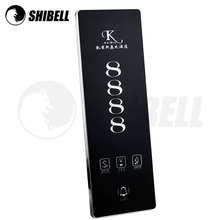 Shibell top design customized hotel door number electric doorplate with led touch screen door bell system