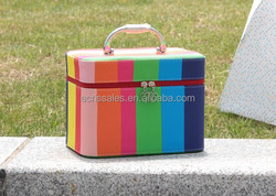 Multifunctional Multicolor Cosmetic Case Hard professional portable storage beauty makeup case