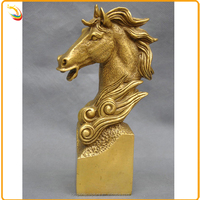 Interior Decoration Life Size Bronze Horse Head Sculpture Metal Cast Horse Head For Sale