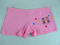 3015-1 cotton sexi girl boxer briefs little kids thong young Chinese factory wholesale children panties modeling underwear