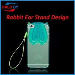 Fashion Rabbit Ear Cell Phone cover for iPhone 6,for iphone 6 cover,hard PC back cover for iPhone 6 cover