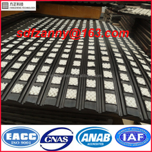 High wear/impact resistant ceramic lagging sheet for pulley roller