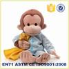 wholesale soft kids monkey toy with scrub dress stuffed plush animals