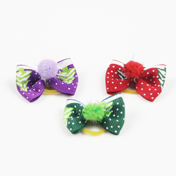 Christmas Classic Pet Cats And Dog Bow Hairpin Headdress Pet Grooming Accessories V1231