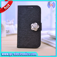 Made in China flip diamond bling leather case for samsung galaxy S5 i9600 new products