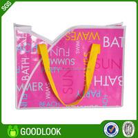 full color printing reusable woven foldable tote bag