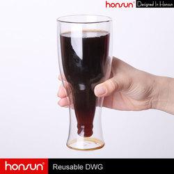 Unbreakable Pyrex glass drinking custom Espresso 450cc cheap glass coffee cup