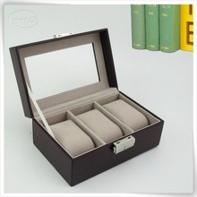 Pu leather branded watch box with cushions