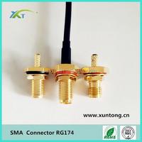 sma male microstrip rf connector cable compression type