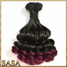 Hot new products for 2015 best selling dip dye remy hair weave, gray remy hair extensions