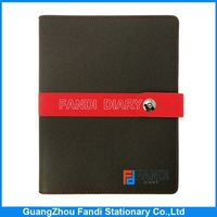 characteristics of school leather notebook with leather cover