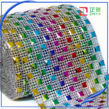 rhinestone mesh sheets saree laces for resin shoes accessory