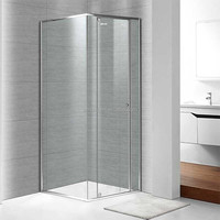Fashion design 4mm /6mm /8mm tempered glass with frame corner simple small shower enclosure