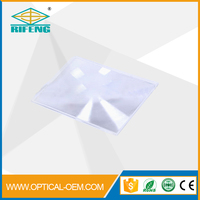 2014 hot sale plastic screw thread full page fresnel magnifier sheet