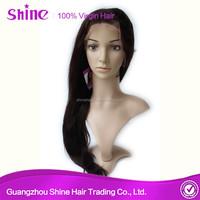 Top quality natural baby hair virgin human hair long straight wig cosplay