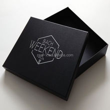 US$500 cash coupon luxury customized packaging paper box with lid