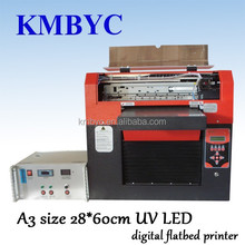 Flat bed a3 multicolor uv flatbed printing machine for promotion