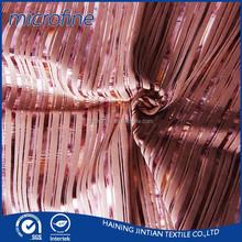 strip bronzing fleece fabric for sofa cover