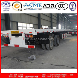 China Hot Sale 2 axles flatbed container transport semitrailer / Truck semi trailer
