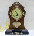 pic de quartz pendule horloge horloge de table ancienne en bois stand