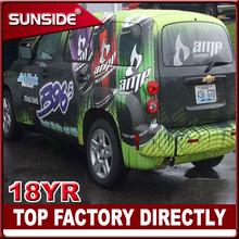 Promotionl!!3D Carbon Fiber racing car sticker ,car sticker design Custom Designed Car Sticker