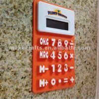 custom logo printed soft mini rubber calculator